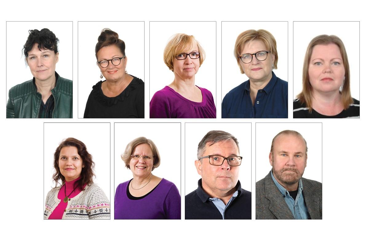 Oamk Journalin toimituskunta: ylärivissä vasemmalta Satu Koho, Anne-Maria Haapala, Riitta Kokko, Sirpa Puolakka ja Sirpa Ahvenlampi. Alarivissä vasemmalta Minna Kamula, Aino-Liisa Jussila, Vesa Pitsinki ja Juha Pousi.