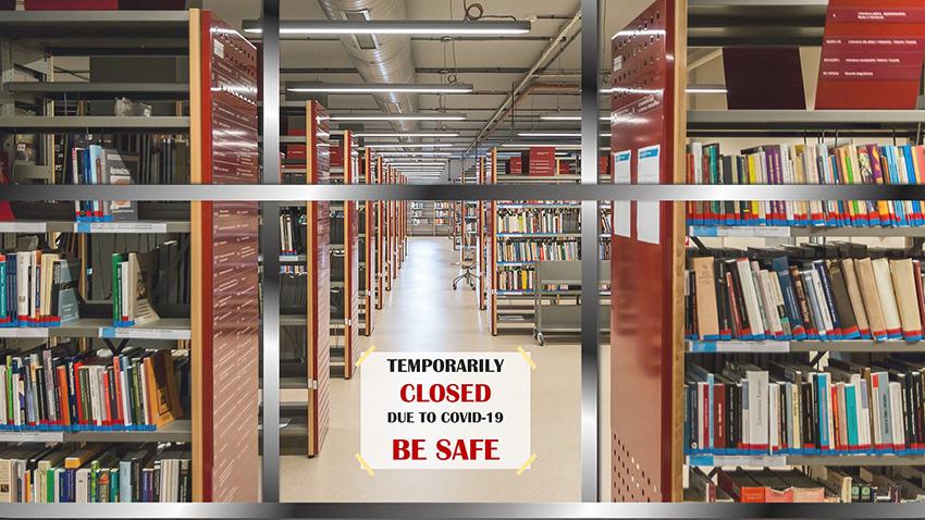 Kirjasto oli kiinni COVID-19 pandemian aikaan. Kuva: Queve Pixabaysta, CC0