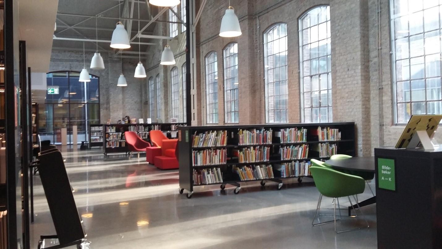 Bergen University College, Kronstadin kampuksen kirjaston lehtilukusali.