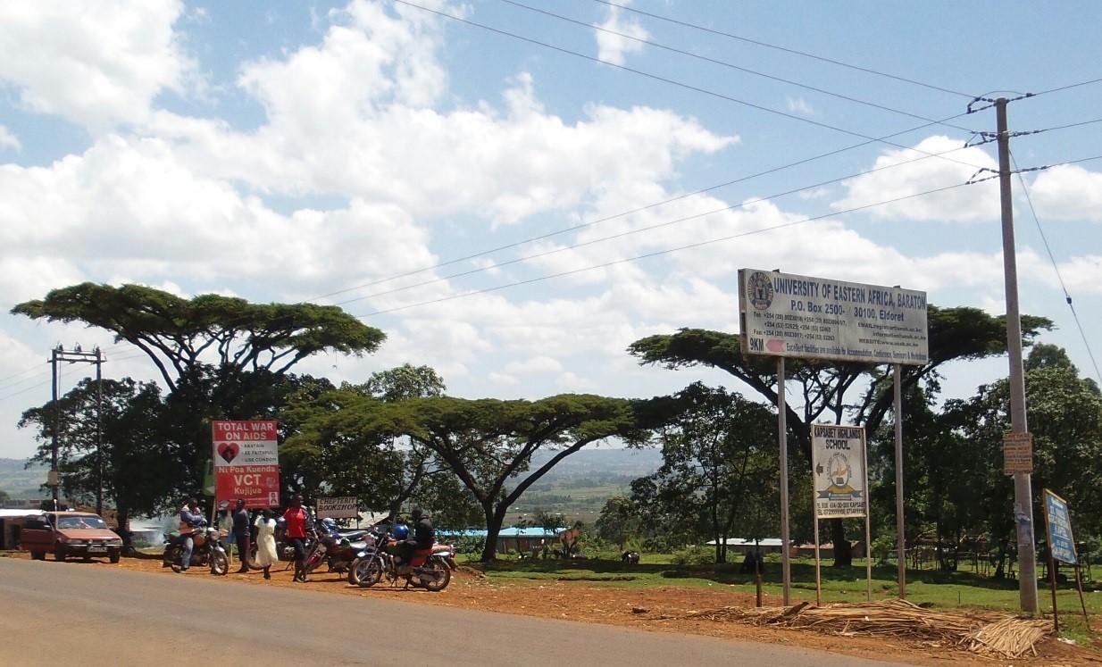 UEABn kampus sijaitsee vehreällä ylänköalueella Länsi-Keniassa.