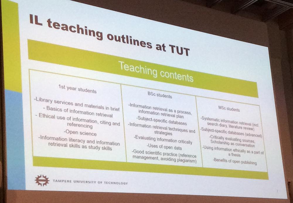 TUT:n IL-opetussuunnitelma eri vuoden opiskelijoille