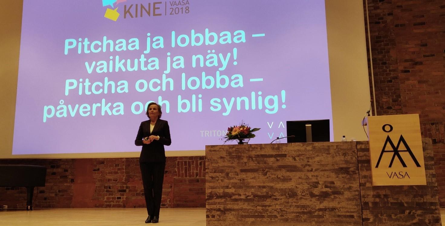 Anneli Jäätteenmäki piti päättäjien lobbausta tärkeänä.