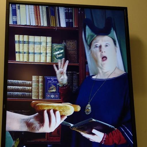 Bild 3. Ingen mat i biblioteket, tack! Foto: Inger Måtts-Wikström