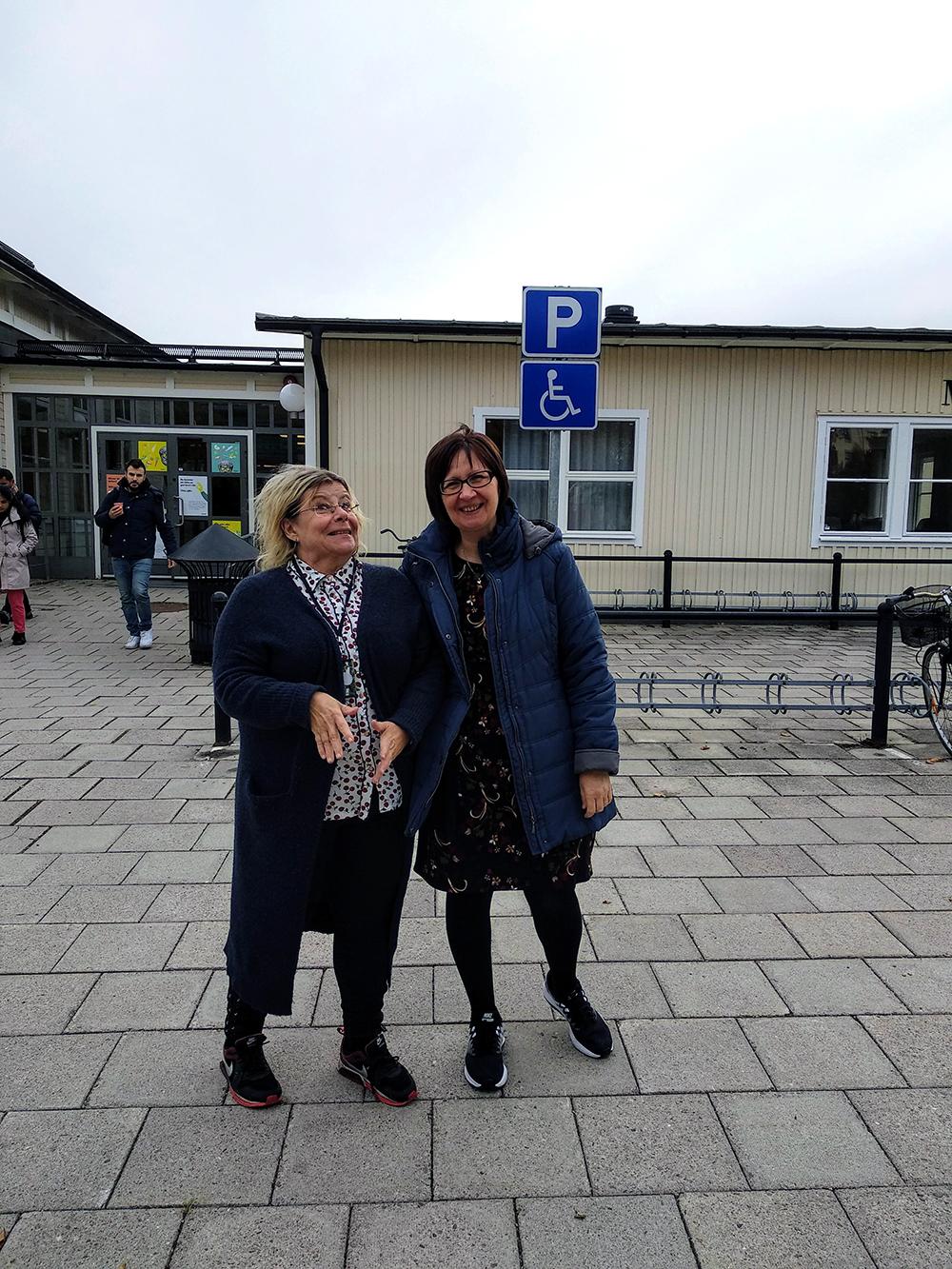 Bild 2. Våra värdar på Högskolan i Gävle. Foto: Inger Måtts-Wikström
