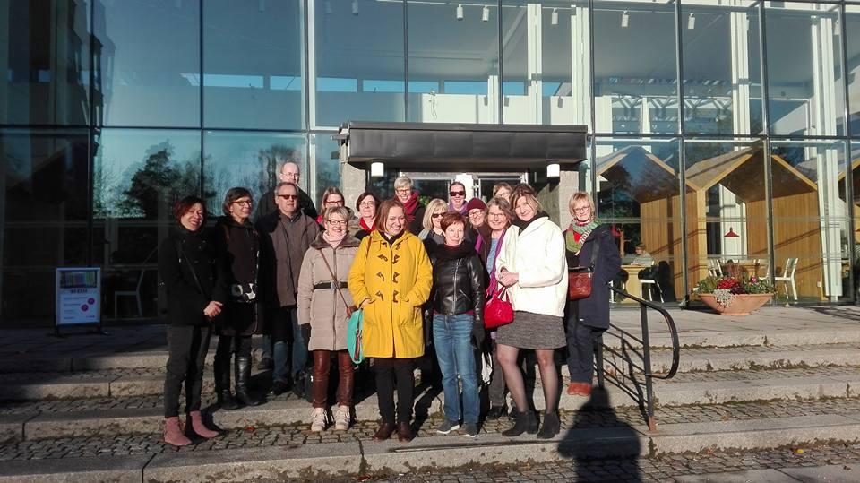 Karolinska institutets bibliotek Tukholmassa, vierailu marraskuussa 2017. Kuva: Tiina Heino.
