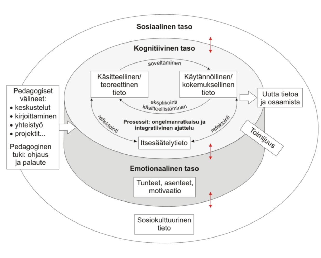 KUVIO 2. Integratiivisen pedagogiikan malli (Tynjälä 2018)