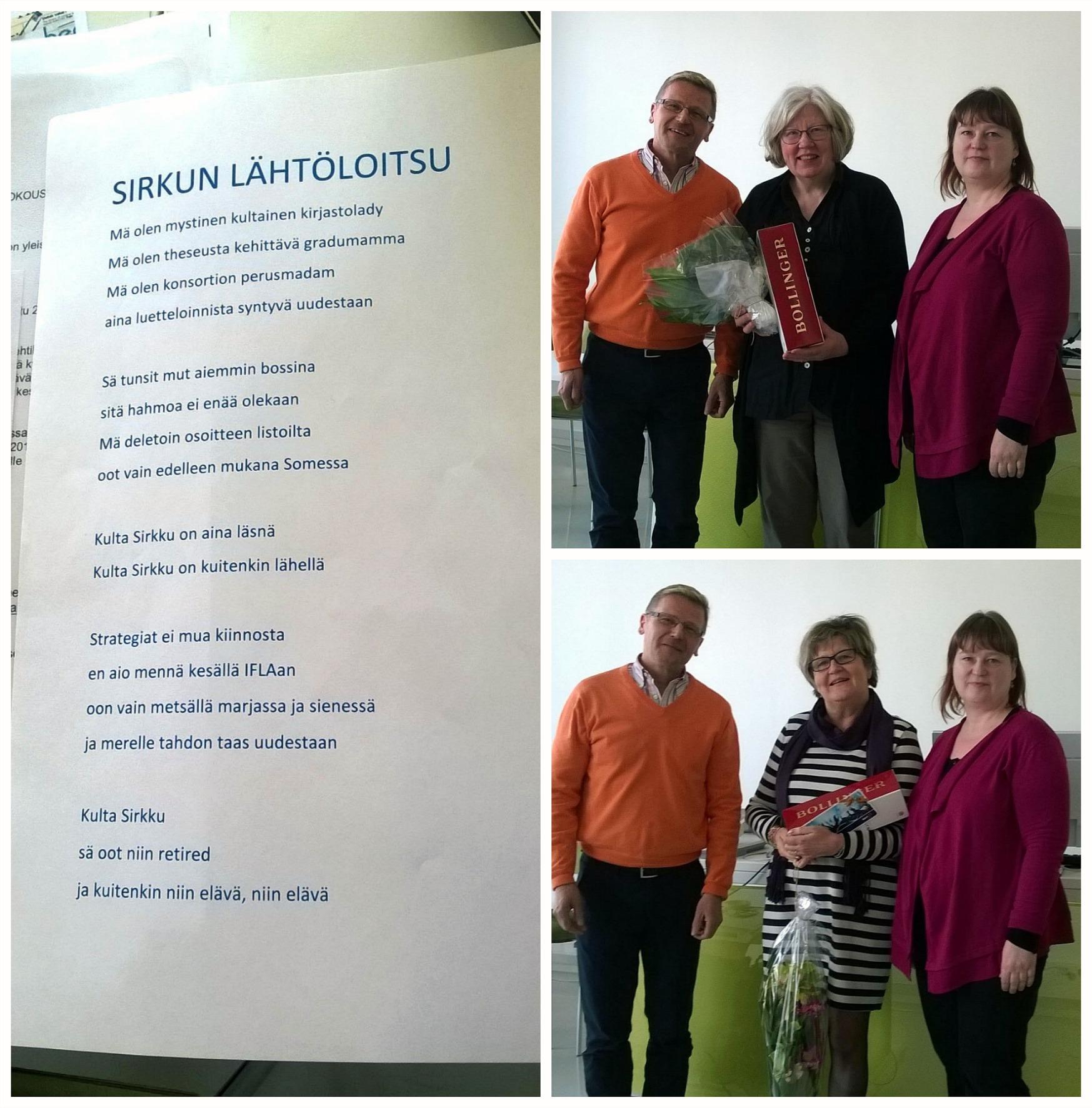 Kuvissa Gunilla Jansson, Marita Ahola (VAMK) ja Kari Tiainen (Karelia)
